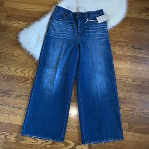 Madewell Wide Leg crop denim jeans size 31 tall